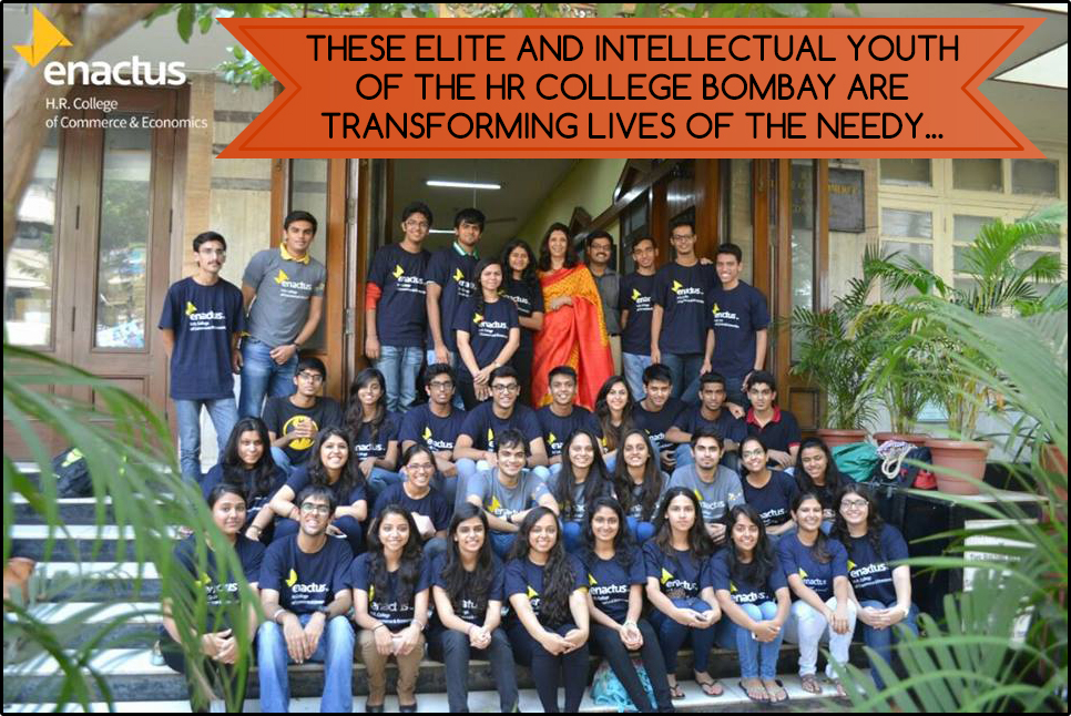ENACTUS HR Team with Director of HR College, Dr. (Mrs.) Indu Shahani