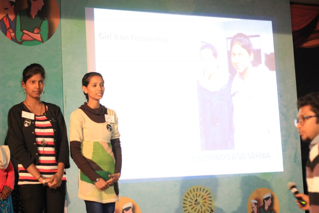 Sahiba and Khushboo during the UnManifesto Event in Delhi