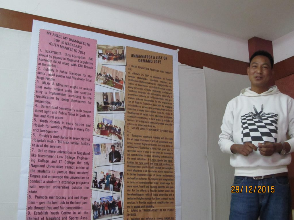 Samwell participating in the UnManifesto Event in Assam