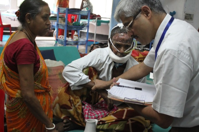 Doctor Ravi Kanan giving free treatment to the underprivileged in Assam