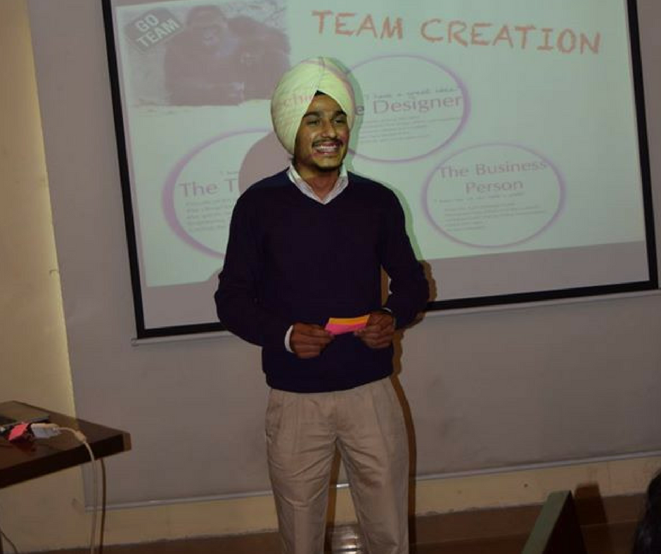 Inderpreet Singh in a Conference