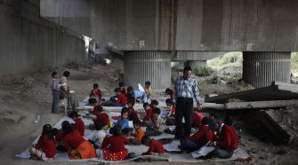 school under the flyover