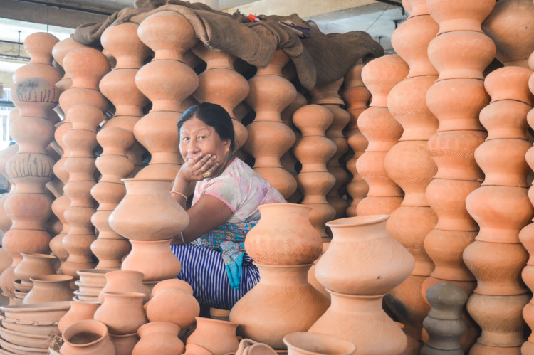 The pots here are versatile. It could be used for storing drinking water; for ritual purposes and many more | Image courtesy: Milaap
