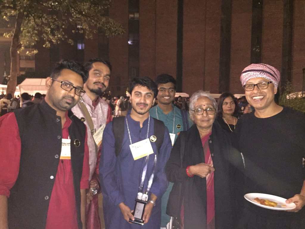 The Optimist Citizen team with Aruna Roy, founder of MKSS and Osama Manzer, founder of DEF