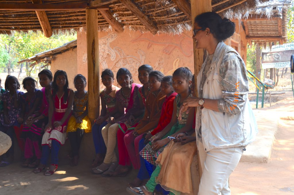 Interactive session with tribals at a forest camp