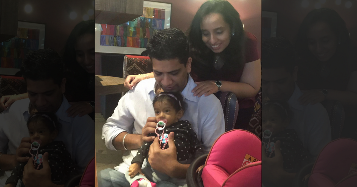 Sandeep and Neha with their daughter Zarouhi