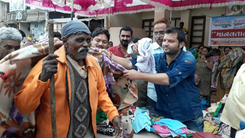 Modern sarpanch helping people