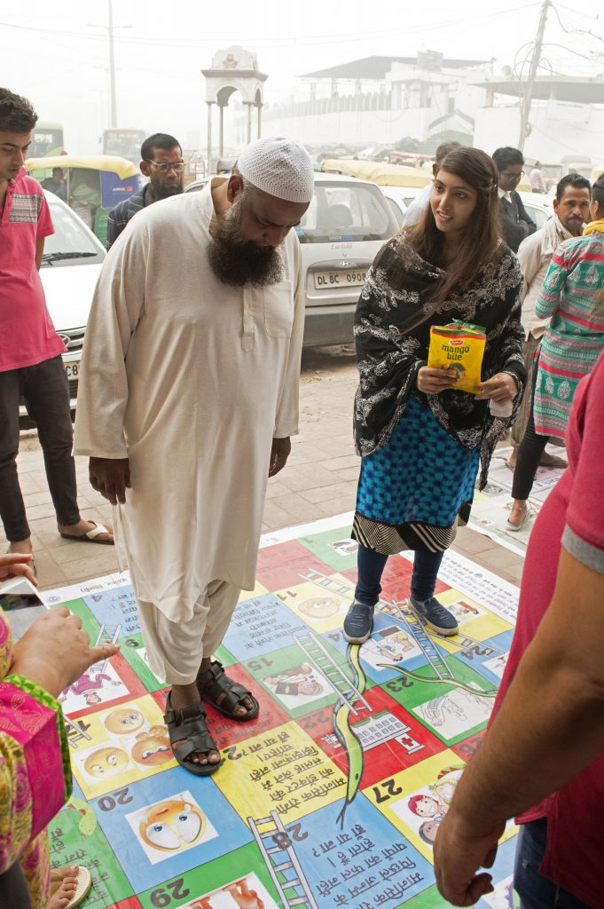 Using traditional games with a twist for mental health awareness in Daryaganj | Image courtsey : Mind Piper