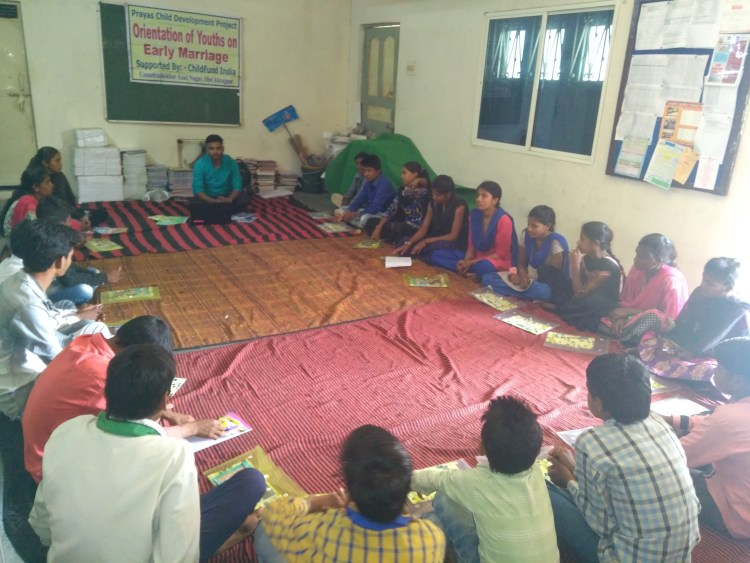 Orientation session on marriages and sexual health| Image courtesy: Milaap