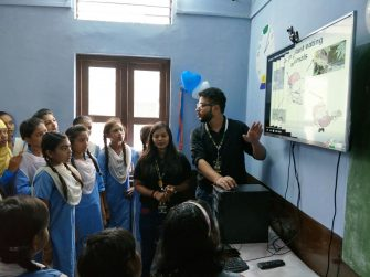 The team of Muskaan Dreams taking a Digital Classroom Session