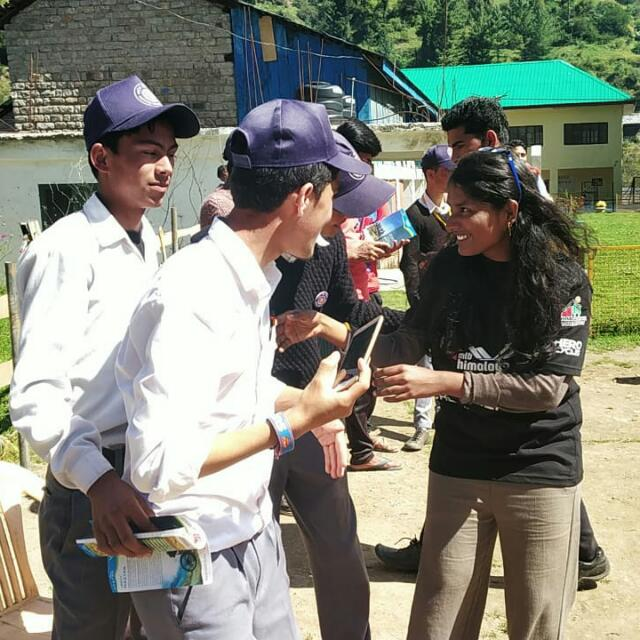 Sushmanjali during her volunteering stint at MTB Himalaya