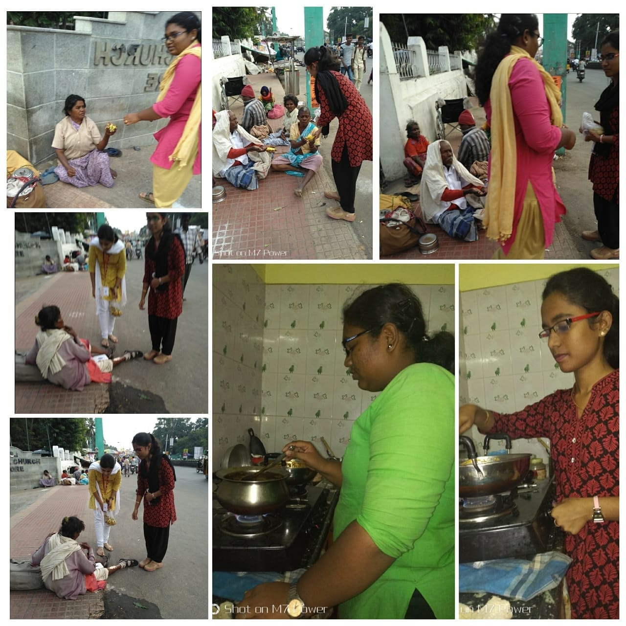 Jagriks from the Audacious Dreams Foundation preparing and serving food to the underprivileged in and around Vellore