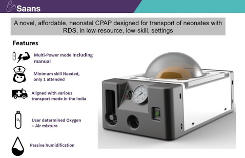 Coeo Labs product- Saans CPAP device