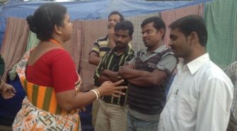 Monica Majumdar during one of her field visits