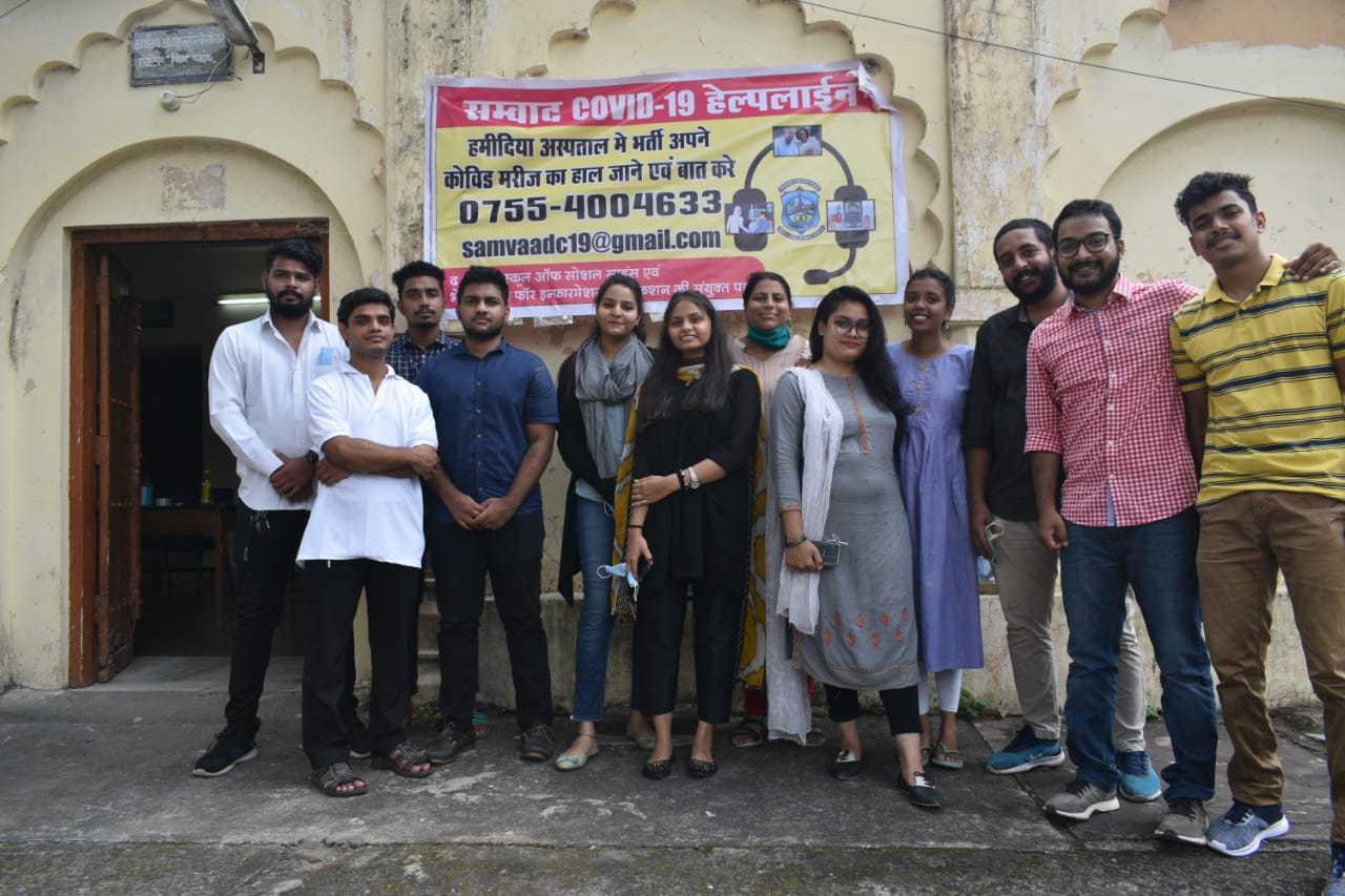 Samvaad Covid-19 Helpline team
