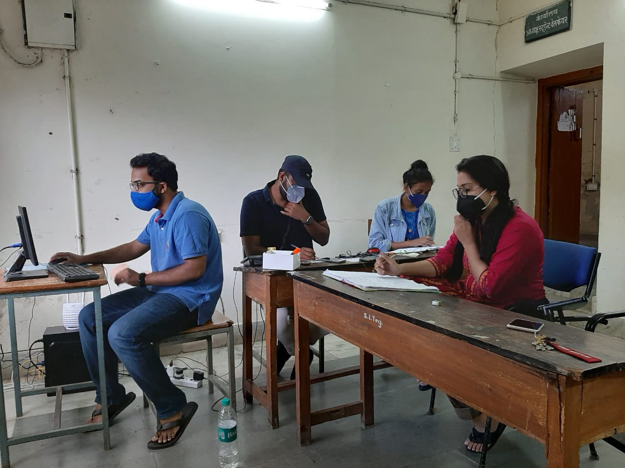 Samvaad Helpline volunteers