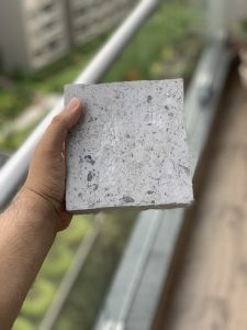Eco-Eclectic Tech Group' is converting waste produced from PPE and face masks into bricks.