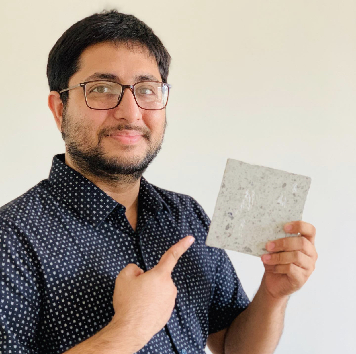 Binish Desai from Gujarat has found a way to recycle PPE kits into bricks for homes