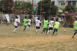 A non-binary team playing football in Manipur