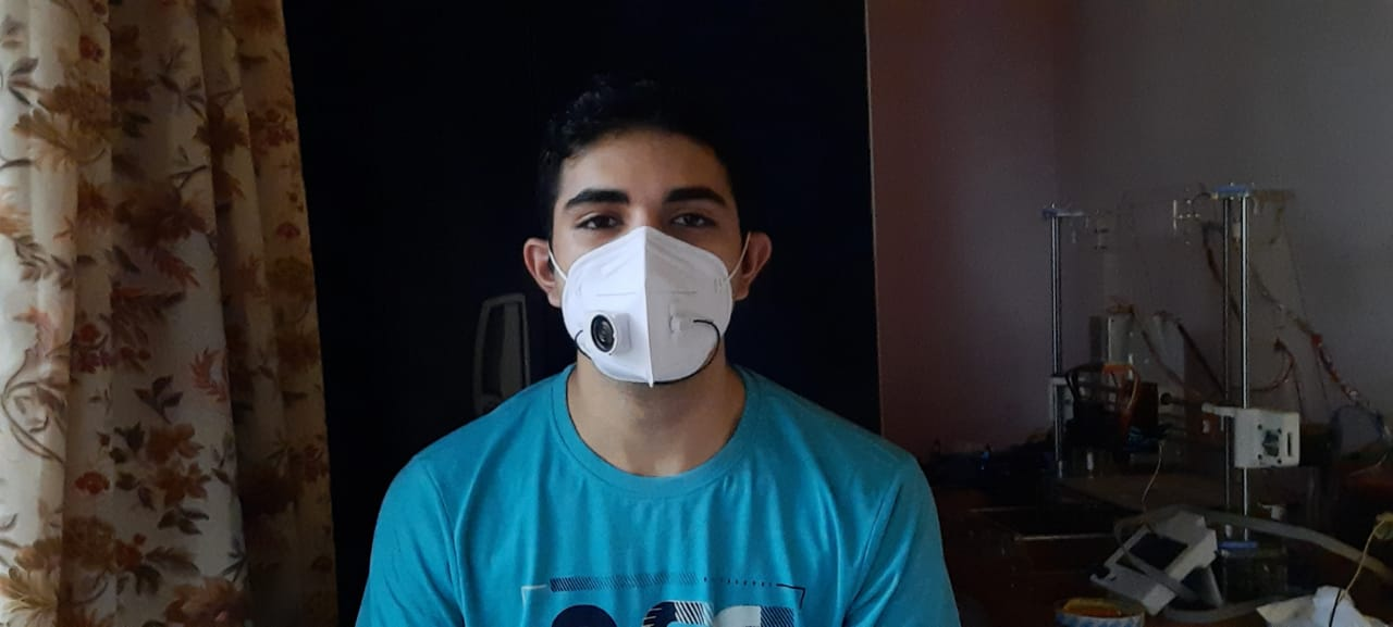 Kerala student designs a mask with inbuilt mic and speakers for frontline workers to speak with ease.
