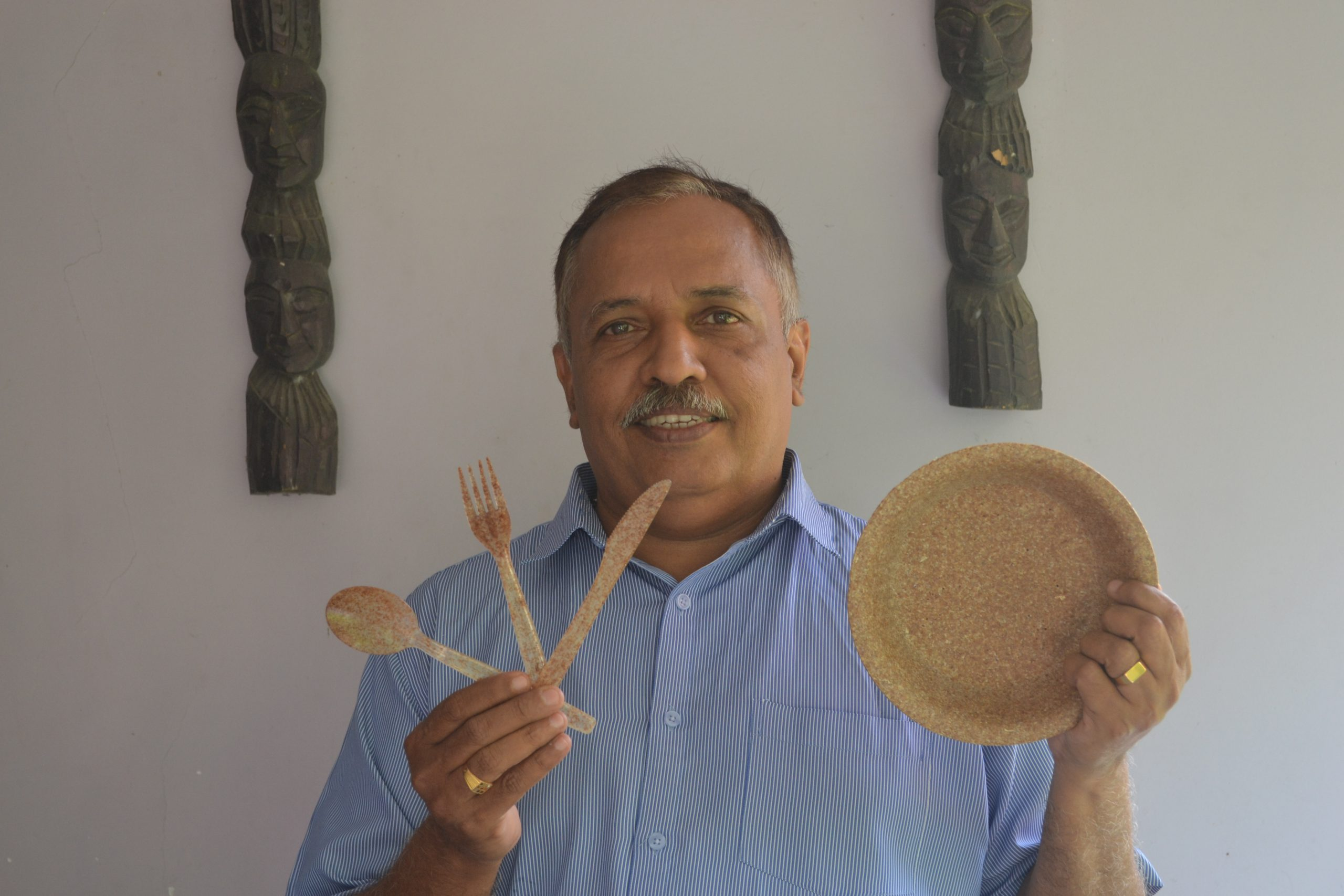 Started by Vinayakumar Balakrishnan, Thooshan is a sustainability centric project that makes edible cutlery out of wheat bran.