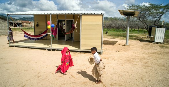 Colombia based company Woodpecker Housing is building affordable, sustainable houses using coffee husks and a recycled polymer.