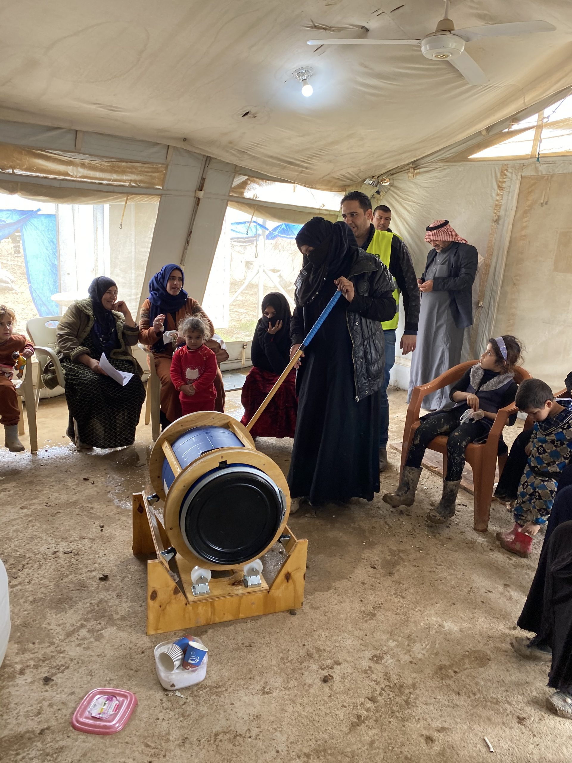 The Washing Machine Project carried out a 50-machine pilot with the first Divya model in the refugee camps in Iraq.
