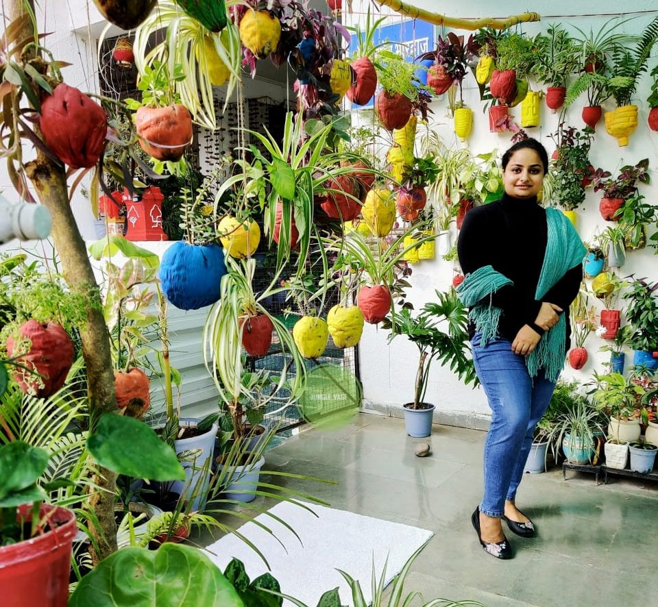 Sakshi Bharadwaj from Bhopal has made a mini forest in her home called Jungle Vase