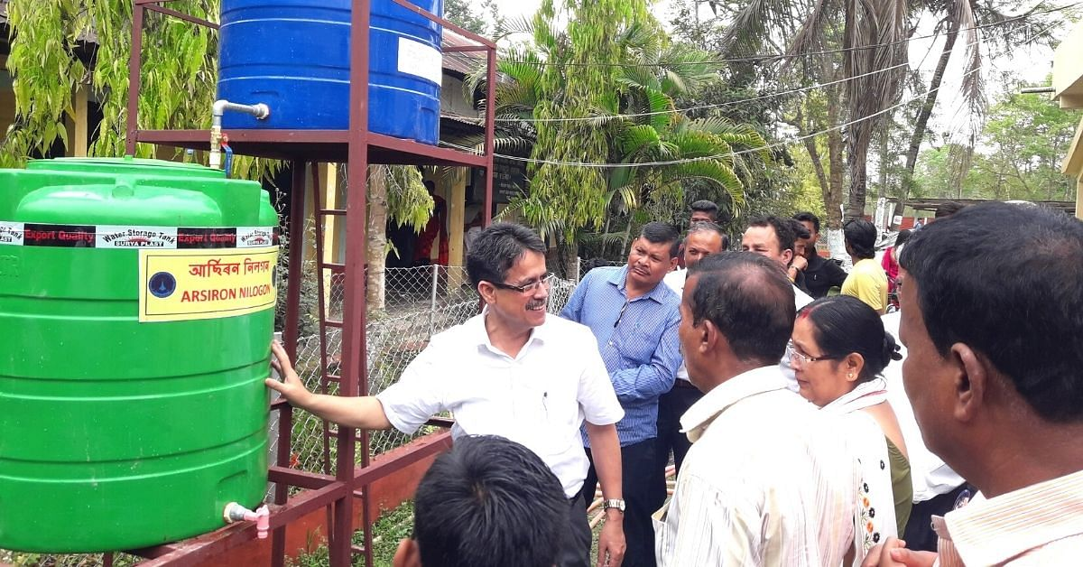 Assam professor develops a filter that removes toxic elements from drinking water at 1paisa/litre.