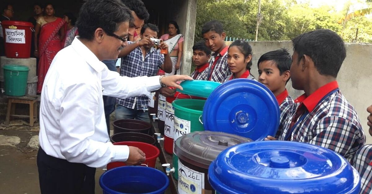 Dr Robin Dutta from Tezpur University designed a DIY Filter, Arsiron Nilogon, that removes toxic elements such as Arsenic and Iron from water for just 1 paisa/ litre