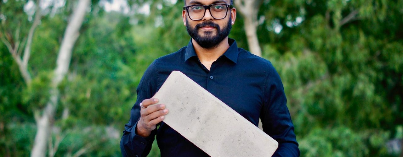 Tarun Jami from Vishakapatnam, through his startup GreenJams, has developed a special kind of brick out of the agricultural waste that sucks out carbon from the atmosphere.